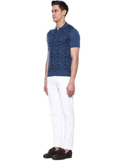 Luciano Barbera Tişört Mavi